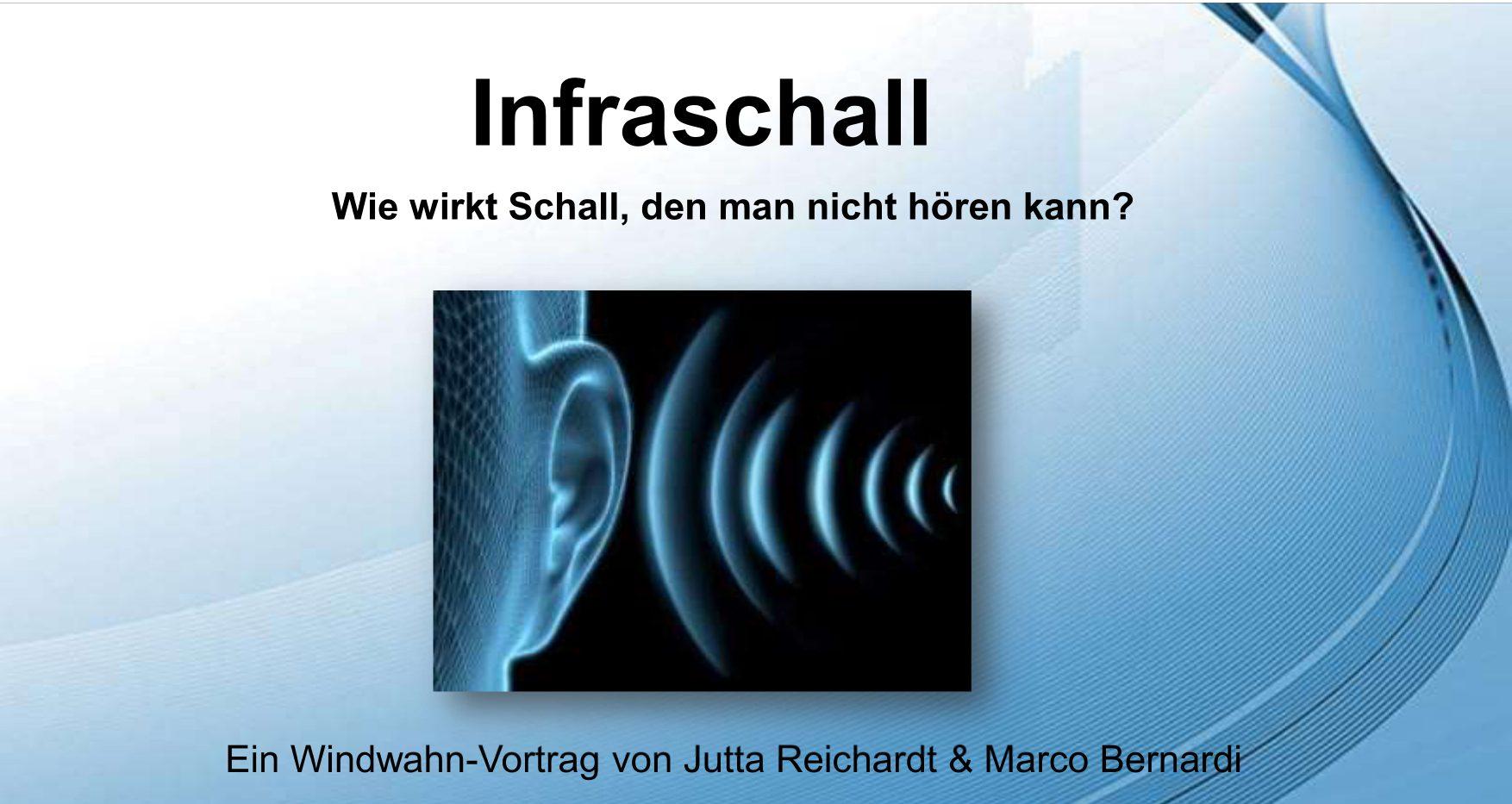Infraschall Vortrag 1